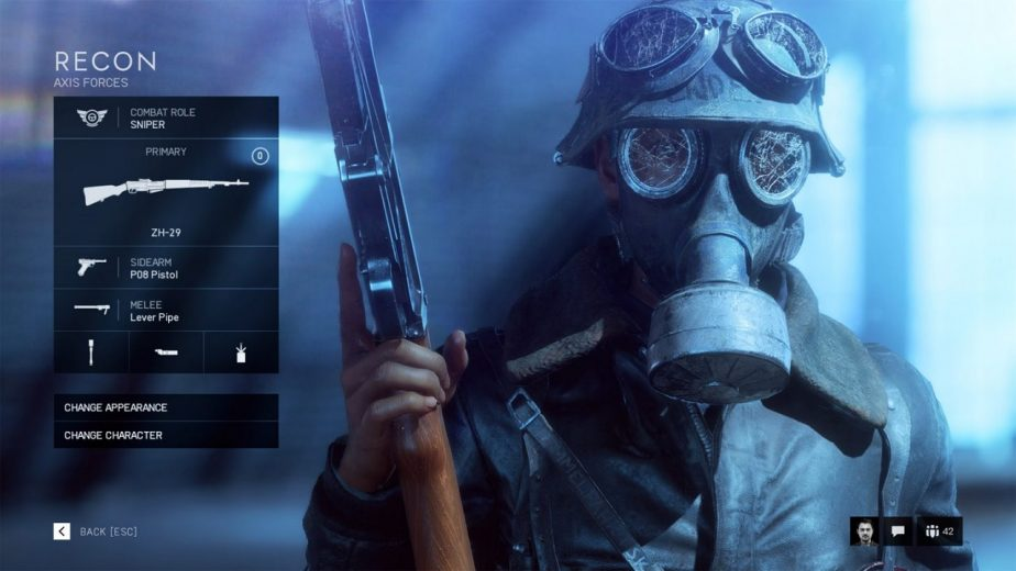 Battlefield 5 Bolt Action and Self Loading Rifles Are Available to the Recon Class