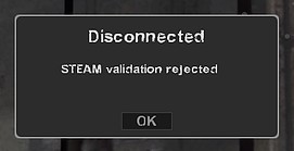 Disconnected Steam validation roijected