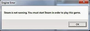Steam is not running. You must start steam in order to play this game