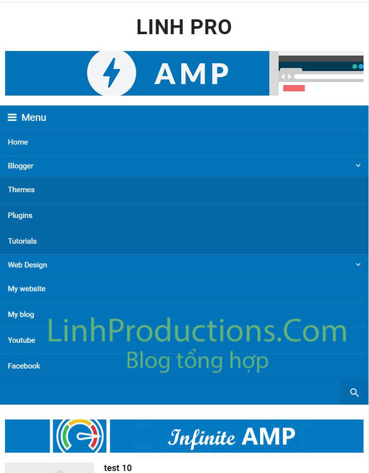 Template AMP Blogspot Seo load nhanh