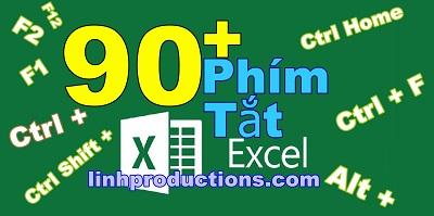 90+ phím tắt Excel chuyên dùng trong Win và Mac