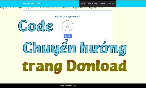 Code chuyển hướng trang download Blogspot