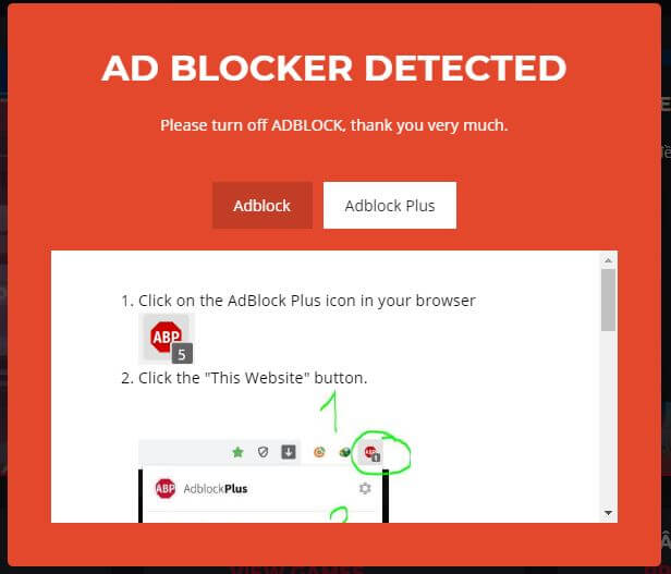 Code tắt Adblock cho Wordpress