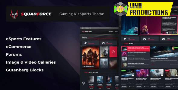 SQUADFORCE – ESPORTS GAMING WORDPRESS THEME