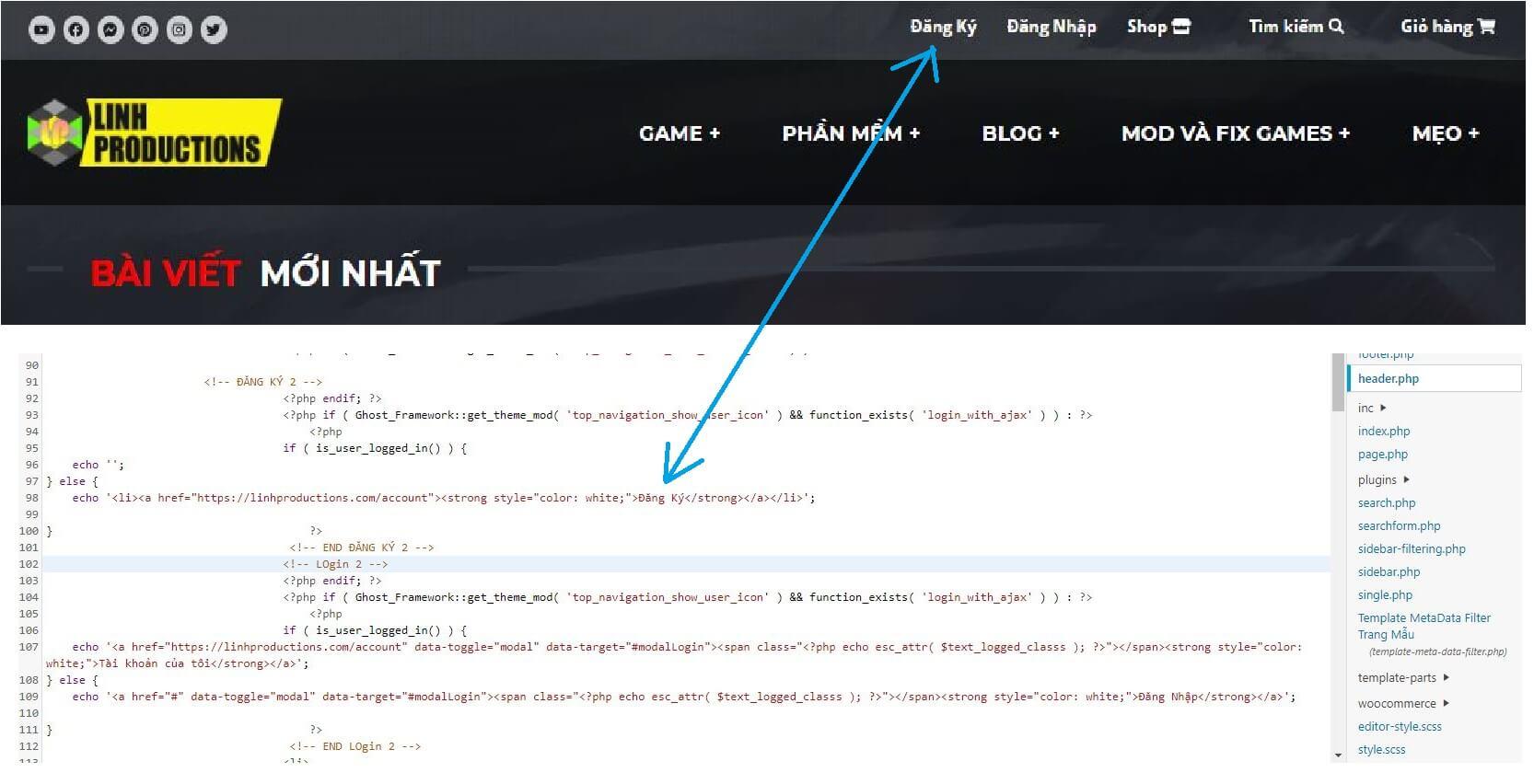 Code ẩn Text khi người dùng đăng nhập