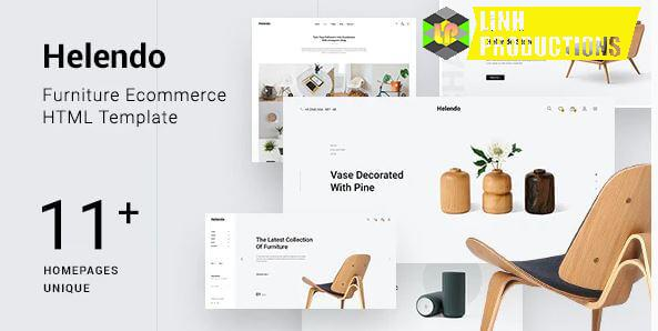 Helendo - Furniture eCommerce HTML Template not nulled