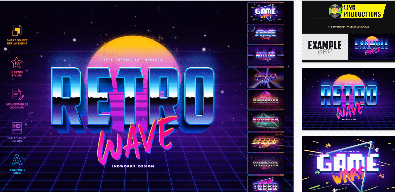 80's Retro Text Effects vol.1