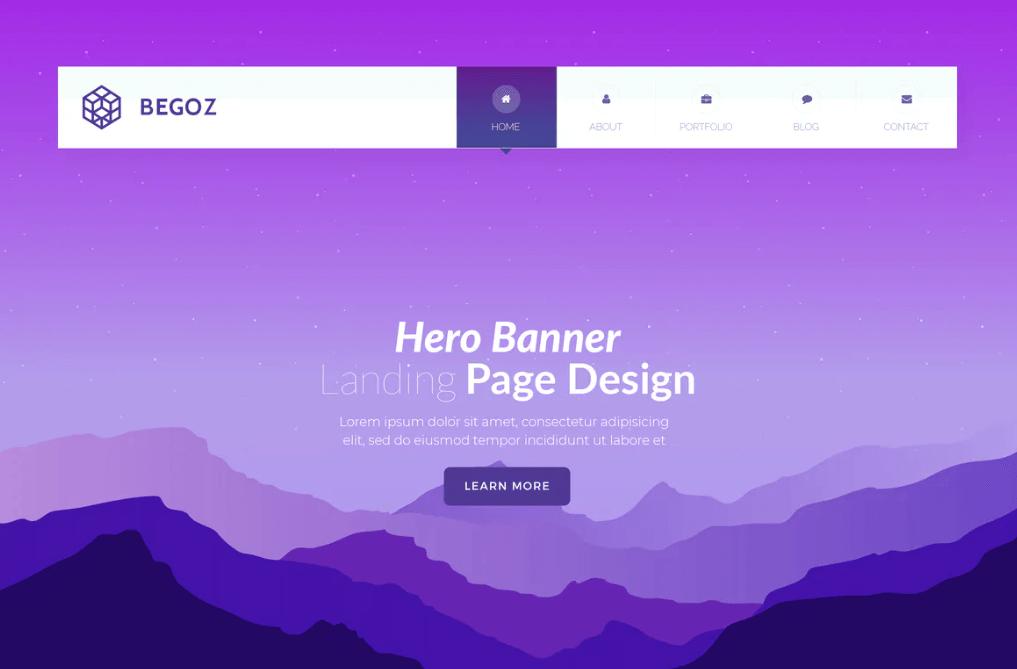 Begoz - Hero Banner Template