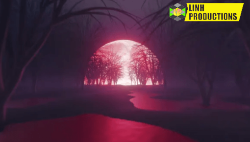 Blood Moon Night In The Dark Forest