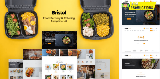 BRISTOL – FOOD DELIVERY & CATERING ELEMENTOR TEMPLATE KIT