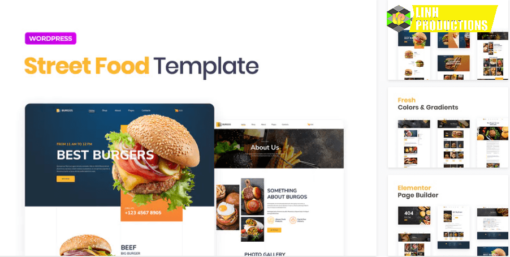 Burgos – Street Food Elementor Template Kit