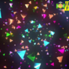 Colorful Triangles Loop 4K