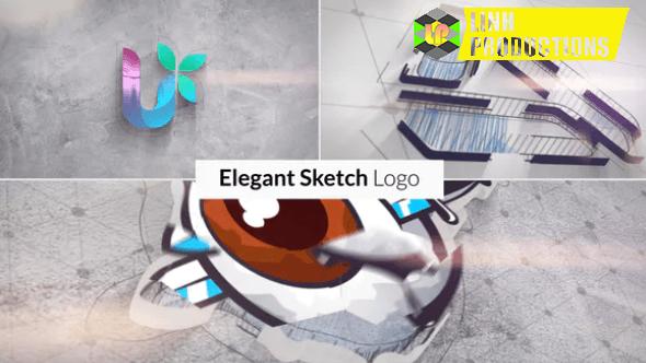 Elegant Sketch Logo Reveal