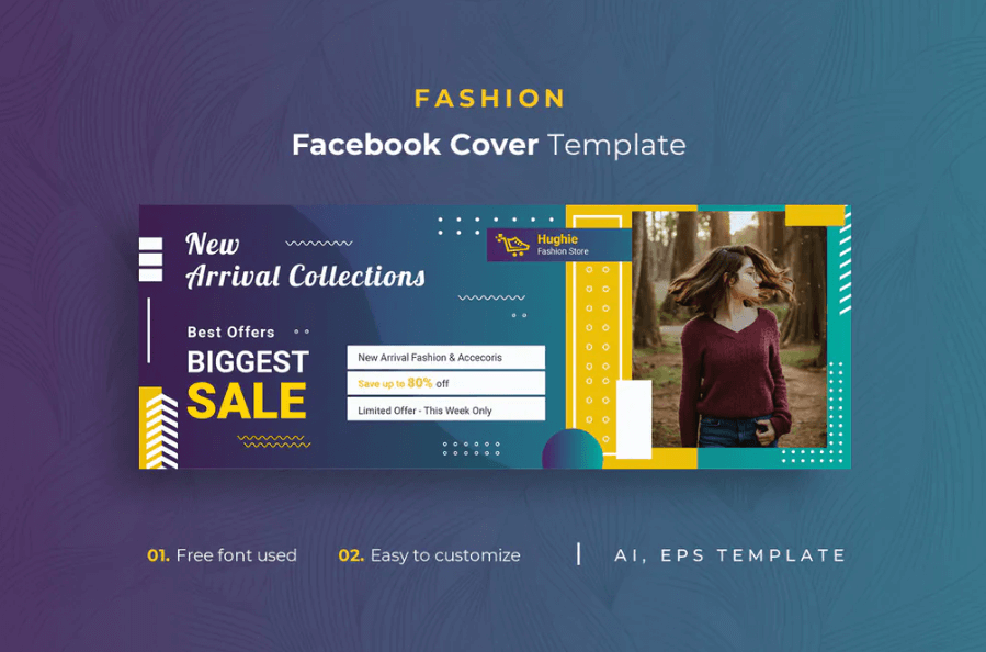 Fashion r1 Facebook Cover Template 1