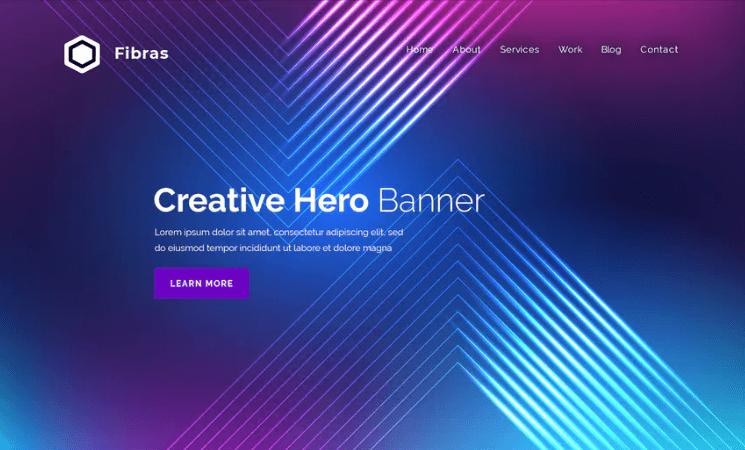 Fibras - Hero Banner Template