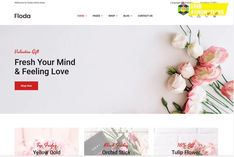 Floda – Flower Shop HTML Template
