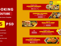 Food Channel Youtube Banner Template