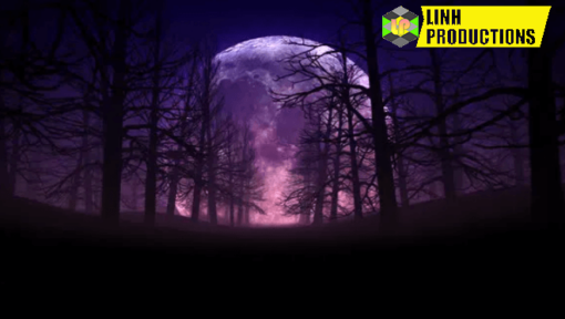 FULL MOON NIGHT IN FOREST HALLOWEEN BACKGROUND 01 4K