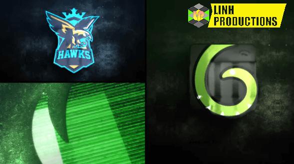 Glitch Glow Logo Reveal
