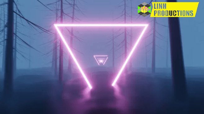 Glowing Triangle In The Forest
