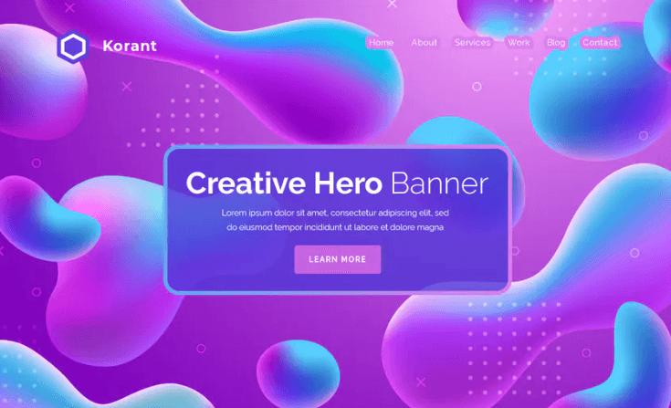 Korant - Hero Banner Template