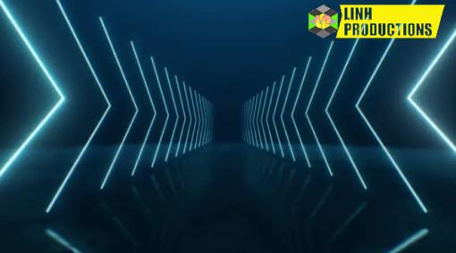 Loop Neon Arrows Going Into Perspective