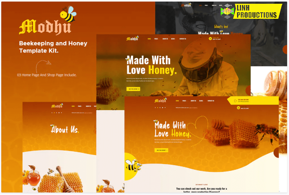 Modhu - Beekeeping & Honey Elementor Template Kit