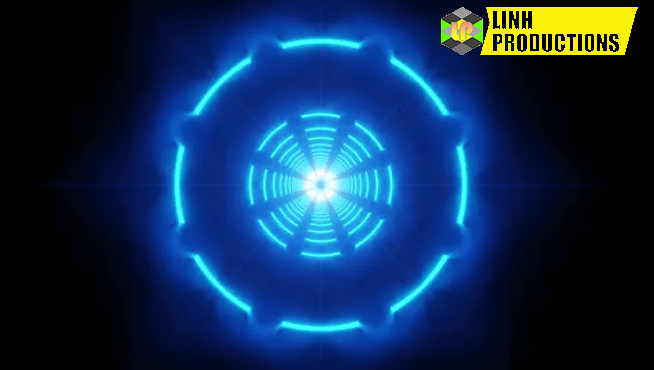 Neon Circles Background