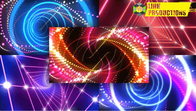 Neon Light VJ Loop 4K 5 Pack