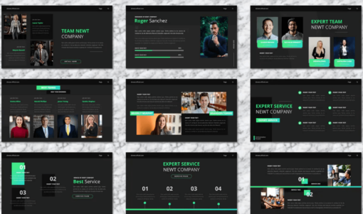 NEWT - COMPANY PROFILE POWERPOINT TEMPLATES