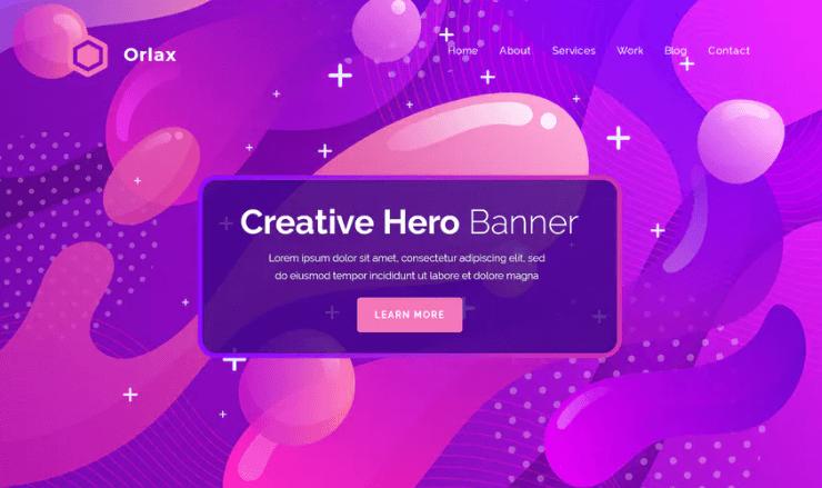 Orlax - Hero Banner Template
