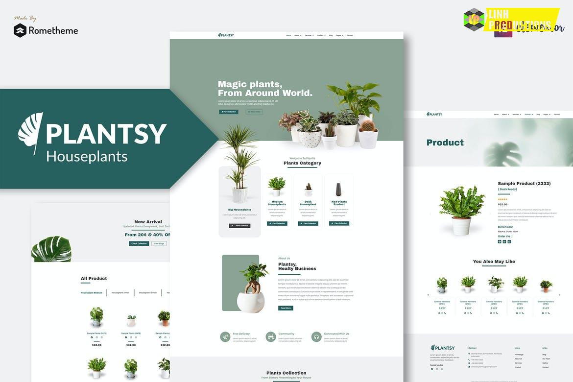 Plantsy - Houseplants Elementor Template Kit