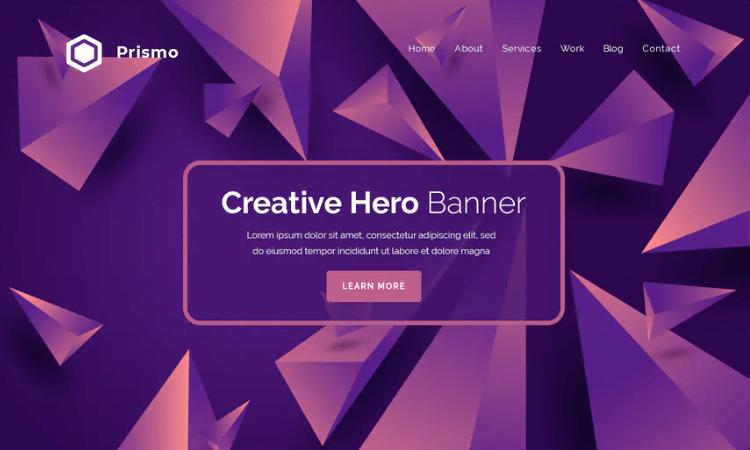 Prismo - Hero Banner Template