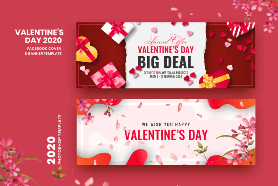 Valentine Facebook Cover Banner Template