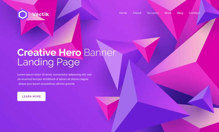 Vectik - Hero Banner Template