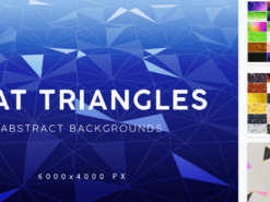 Flat Triangle Backgrounds