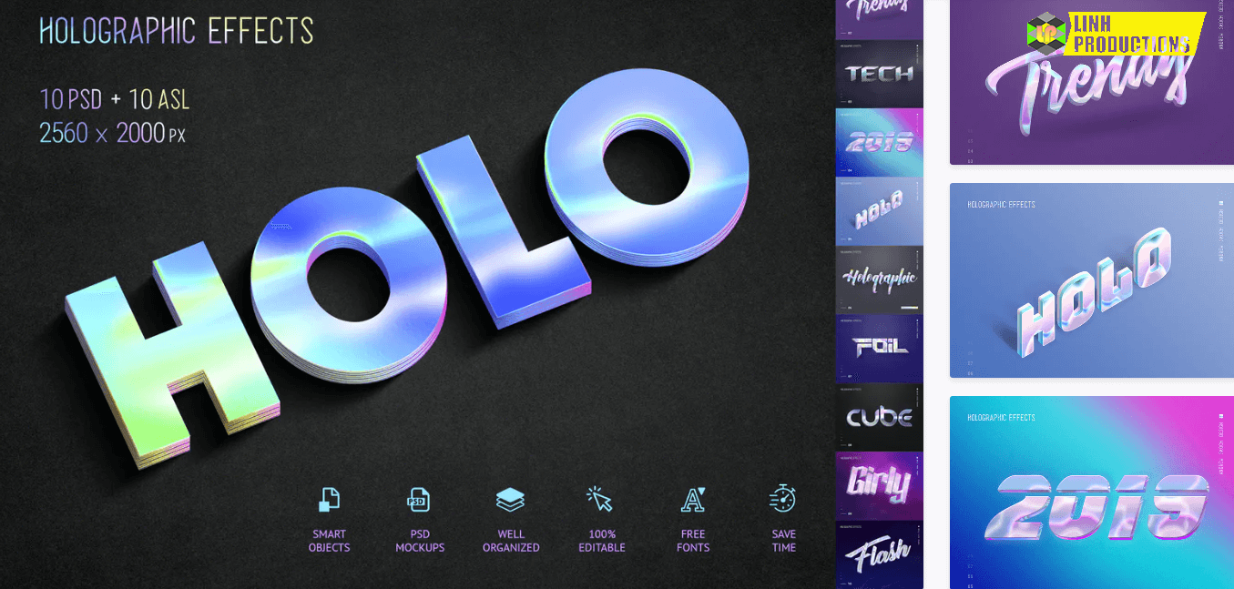 Holographic Text - 10 PSD