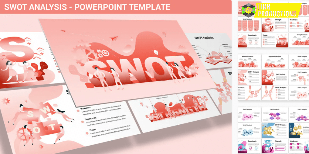 SWOT Analysis - Design Illustration for Powerpoint